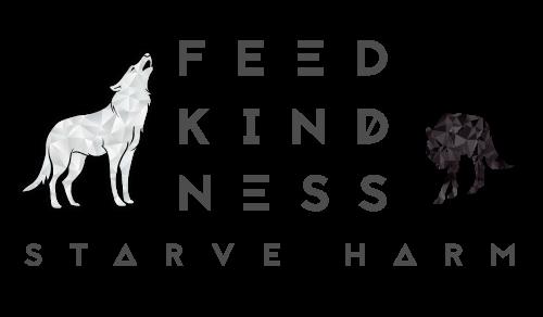 Feed Kindness Starve Harm logo